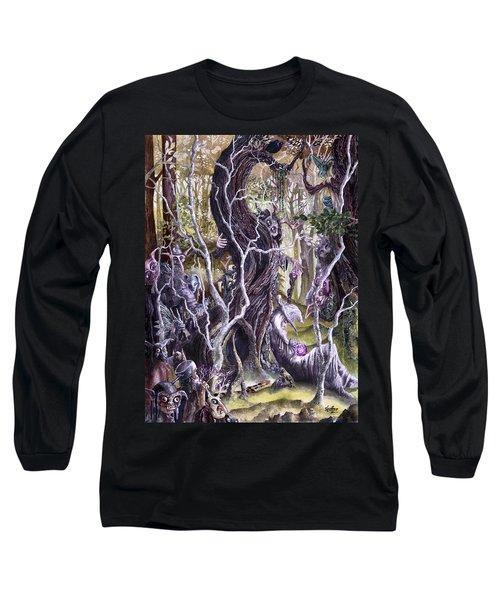 Long Sleeve T-Shirt featuring the painting Heist Of The Wizard's Staff 2 by Curtiss Shaffer