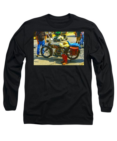 Henderson At Cannonball Motorcycle Long Sleeve T-Shirt