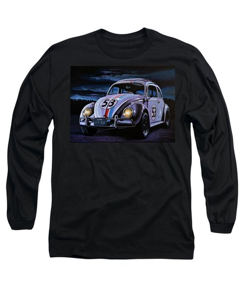 Herbie The Love Bug Painting Long Sleeve T-Shirt