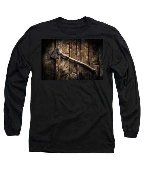 Nature Long Sleeve T-Shirt featuring the photograph Wood Cutter by Aaron Berg