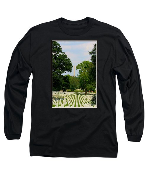 Long Sleeve T-Shirt featuring the photograph Heroes And A Monument by Patti Whitten
