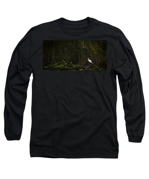 Heron In Grass Long Sleeve T-Shirt by Bradley R Youngberg