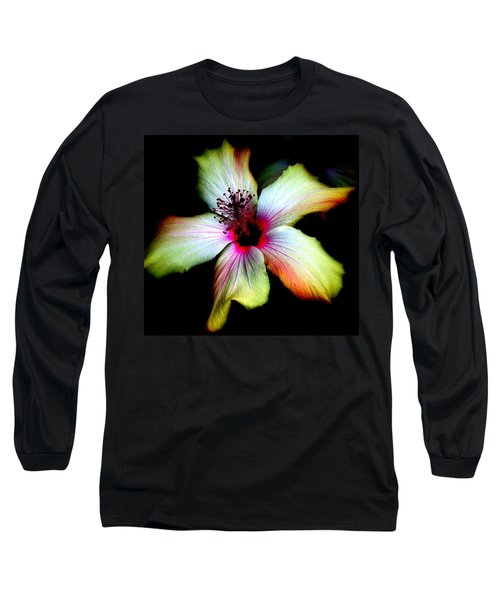 Long Sleeve T-Shirt featuring the photograph Hibiscus by Jodie Marie Anne Richardson Traugott          aka jm-ART