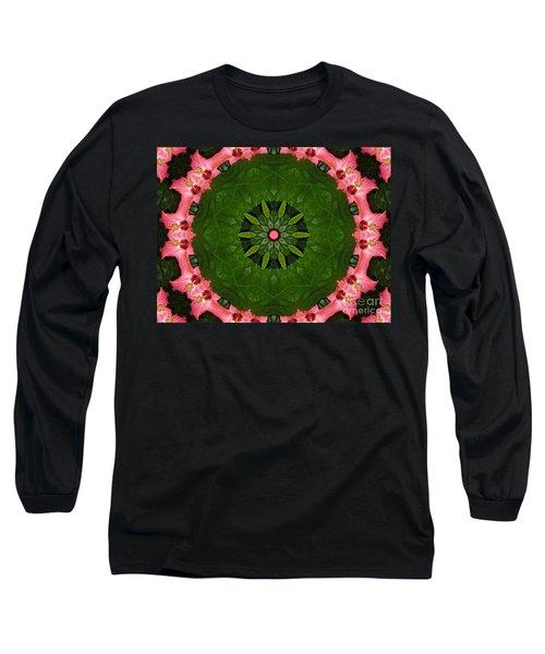 Hibiscus Reflection Design Long Sleeve T-Shirt by Oksana Semenchenko