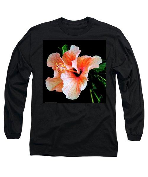 Hibiscus Spectacular Long Sleeve T-Shirt by Ben and Raisa Gertsberg