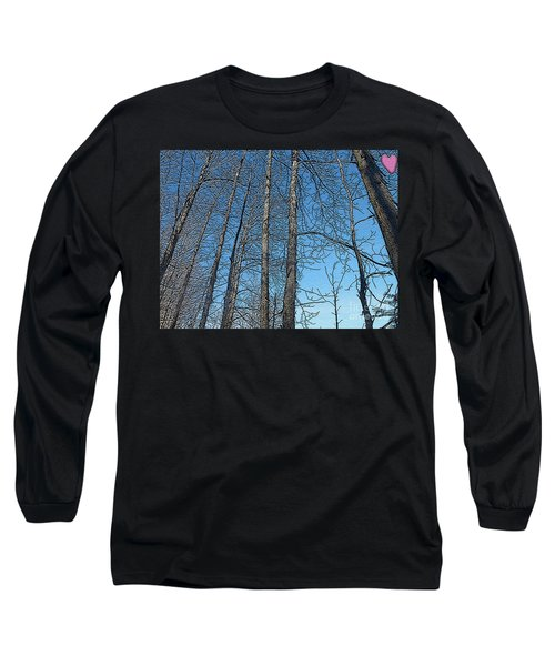 Hickory Trees In Winter Long Sleeve T-Shirt by Patricia Keller