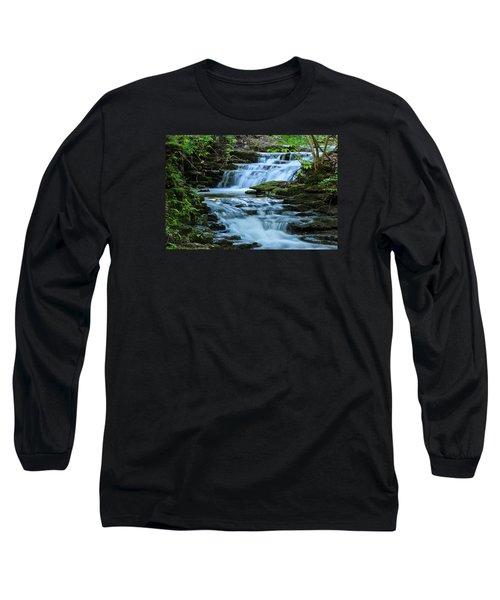 Hidden Falls Long Sleeve T-Shirt by Julie Andel