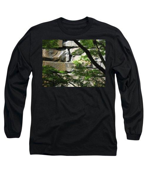 Hidden Waterfall Long Sleeve T-Shirt by David Trotter