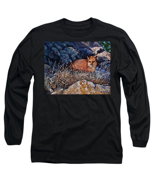 Long Sleeve T-Shirt featuring the painting Hide And Seek by Craig T Burgwardt