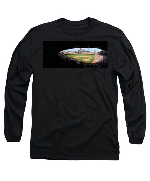 High Angle View Of A Baseball Stadium Long Sleeve T-Shirt