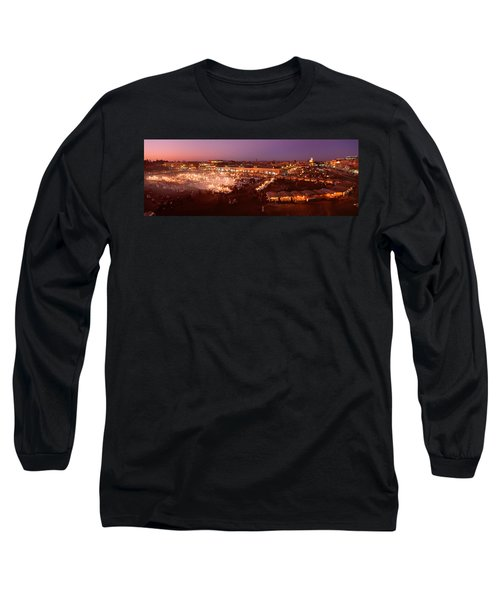 High Angle View Of A Market Lit Long Sleeve T-Shirt