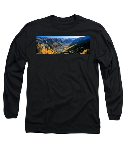 High Angle View Of A Valley, Telluride Long Sleeve T-Shirt