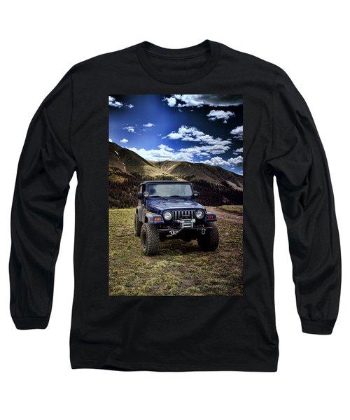 High Country Adventure Long Sleeve T-Shirt by Ellen Heaverlo