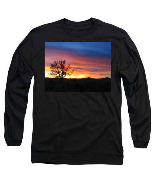 High Desert Sunset Long Sleeve T-Shirt by Kevin Desrosiers