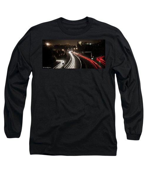 Long Sleeve T-Shirt featuring the photograph Highway's Lights by Stwayne Keubrick
