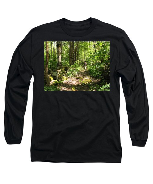 Hiking Off Trail Long Sleeve T-Shirt by Melinda Fawver