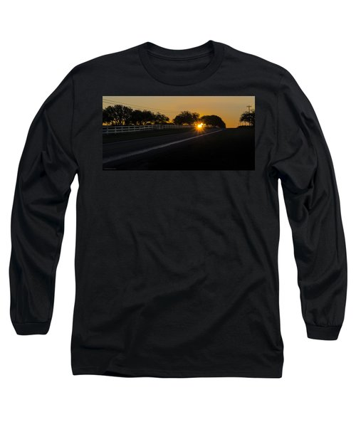Hill Country Sunrise 2 Long Sleeve T-Shirt by Debbie Karnes