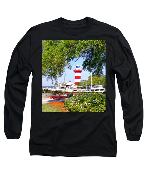 Hilton Head Lighthouse And Marina Long Sleeve T-Shirt