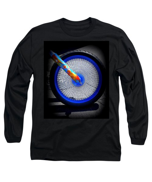 Long Sleeve T-Shirt featuring the photograph Hippie Bike by Laurie Perry