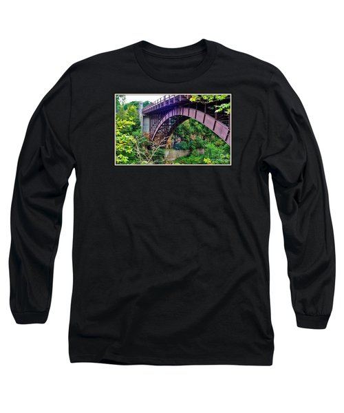 Long Sleeve T-Shirt featuring the photograph Historic Ausable Chasm Bridge by Patti Whitten