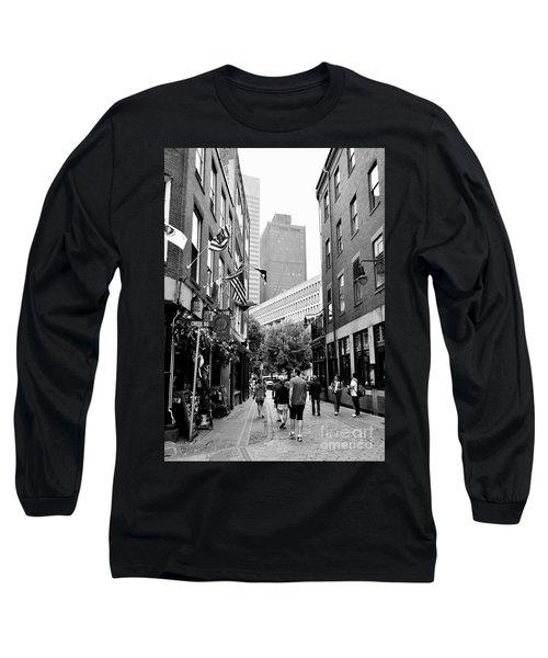 Historic Union Street Boston Ma Long Sleeve T-Shirt