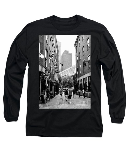 Historic Union Street Boston Ma Long Sleeve T-Shirt