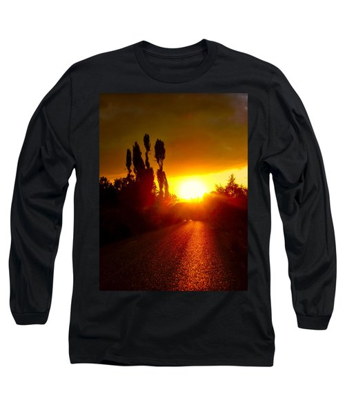 Hit The Road Jack Long Sleeve T-Shirt by Zafer Gurel