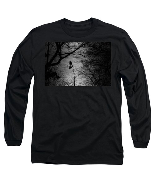 Hockey Silhouette Long Sleeve T-Shirt