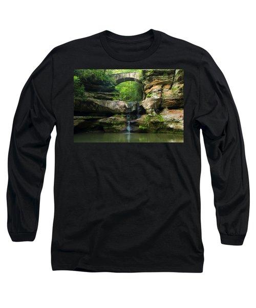 Hocking Hills Waterfall 1 Long Sleeve T-Shirt