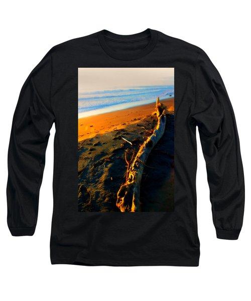 Long Sleeve T-Shirt featuring the photograph Hokitika Beach New Zealand by Amanda Stadther