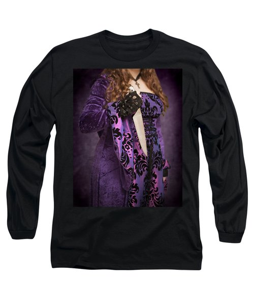 Holding Knife Long Sleeve T-Shirt