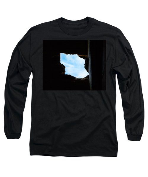 Long Sleeve T-Shirt featuring the photograph Hole In The Roof  by Gary Heller