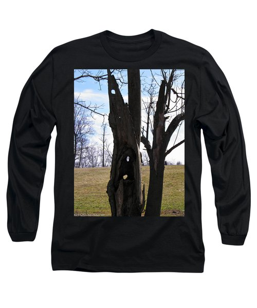 Long Sleeve T-Shirt featuring the photograph Holey Tree Trunk by Nick Kirby