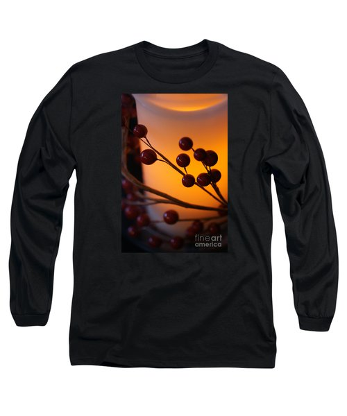 Holiday Warmth By Candlelight 1 Long Sleeve T-Shirt by Linda Shafer