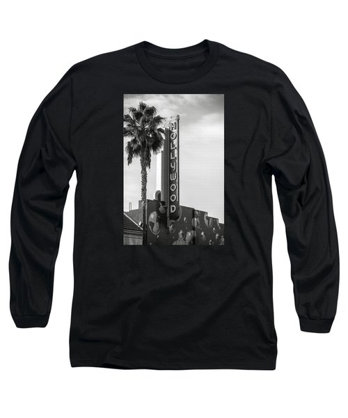 Hollywood Landmarks - Hollywood Theater Long Sleeve T-Shirt by Art Block Collections