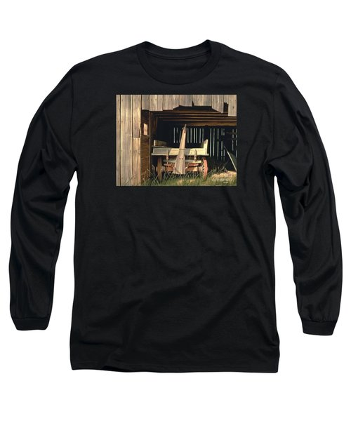 Long Sleeve T-Shirt featuring the painting Misner's Wagon by Michael Swanson
