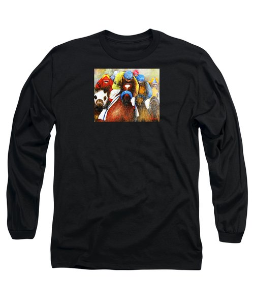 Home Stretch Long Sleeve T-Shirt by Loretta Luglio