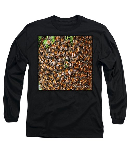 Honey Bee Swarm Long Sleeve T-Shirt by Tom Janca