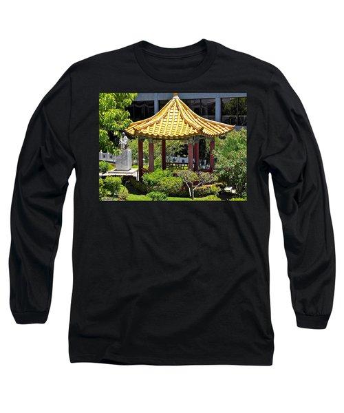Honolulu Airport Chinese Cultural Garden Long Sleeve T-Shirt