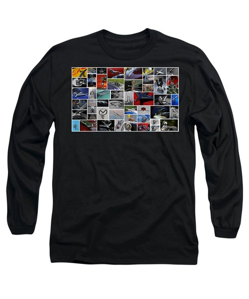 Long Sleeve T-Shirt featuring the photograph Hood Ornament Collage by Mike Martin