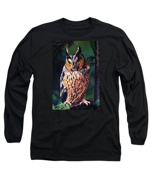Hoot Owl Long Sleeve T-Shirt by Vivien Rhyan