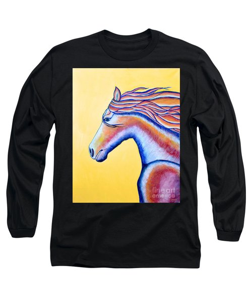 Long Sleeve T-Shirt featuring the painting Horse 1 by Joseph J Stevens