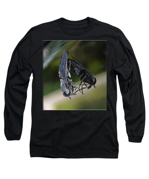 Long Sleeve T-Shirt featuring the photograph Horse Fly by DigiArt Diaries by Vicky B Fuller