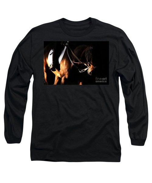 Horse In The Shade Long Sleeve T-Shirt