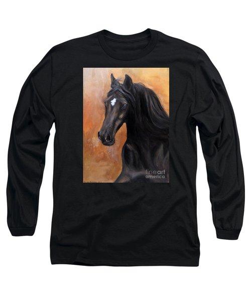 Horse - Lucky Star Long Sleeve T-Shirt by Go Van Kampen