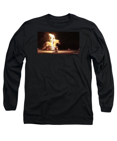 Long Sleeve T-Shirt featuring the photograph Horse On Fire by Stwayne Keubrick