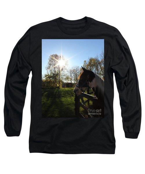 Horse With Sunburst Long Sleeve T-Shirt
