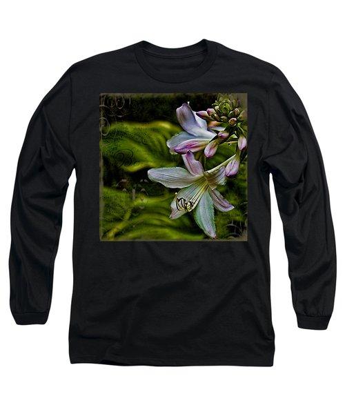 Hosta Lilies With Texture Long Sleeve T-Shirt