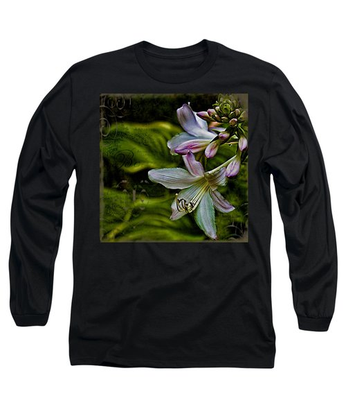 Hosta Lilies With Texture Long Sleeve T-Shirt