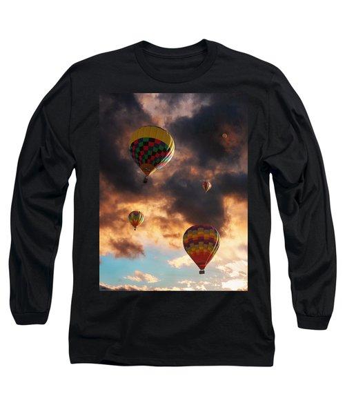 Hot Air Balloons - Chasing The Horizon Long Sleeve T-Shirt